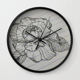 Classroom Peony Wall Clock