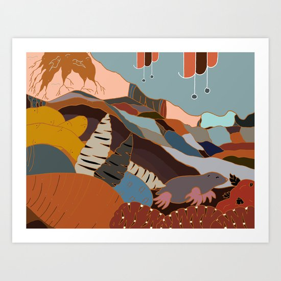 the joy of being Six-feet-under Art Print