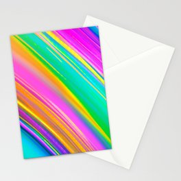 mint saturn Stationery Cards