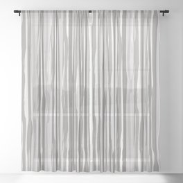 Slate Violet Gray SW9155 Vertical Grunge Abstract Line Pattern Sheer Curtain