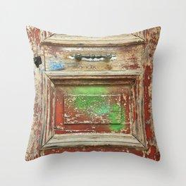old painted door Throw Pillow
