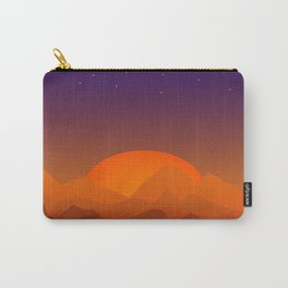 Slumbering Hills, Southwestern Landscape Art Carry-All Pouch