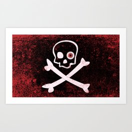 Jolly Roger With Eyeballs Art Print