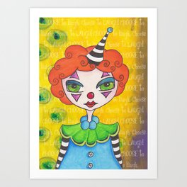 The unFUNNY Clown Art Print