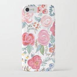 Watercolor Floral Print iPhone Case