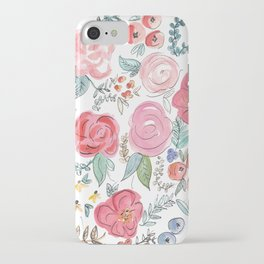 Watercolor Floral Print iPhone Case