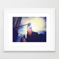 patriotic Framed Art Prints featuring Patriotic by Manik Rathee