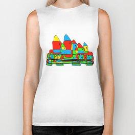 Colored Little Village for Kids Biker Tank