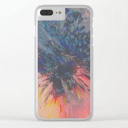 Glitch Wave Clear iPhone Case