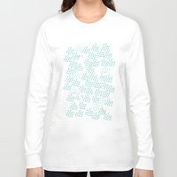 ski Long Sleeve T-shirts featuring Ski Run by finka