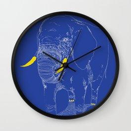 LONE ELEFANT Wall Clock