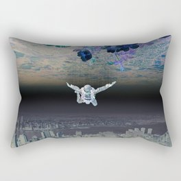 A Skydiver Between Two Parallel Universes Rectangular Pillow