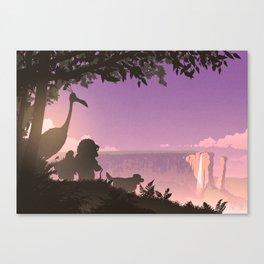 Paradise Falls at Dusk Canvas Print