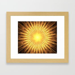 Rays of GOLD SUN abstracts Framed Art Print