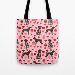 German Shorthair Pointer dog breed valentines day dog art custom gifts for dog lover unique breeds Tote Bag