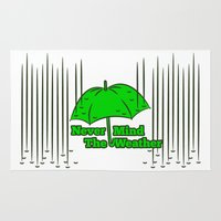 umbrella Area & Throw Rugs featuring Umbrella by mailboxdisco
