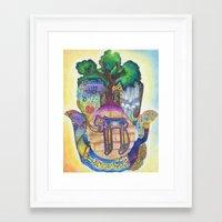 jewish Framed Art Prints featuring Jewish Hamsa by Jewish Art by Brooke Sendele