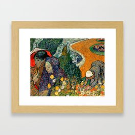 Memory of the Garden at Etten by Vincent van Gogh Framed Art Print