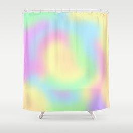 Soft Pastel Rainbow Gradient Design! Shower Curtain