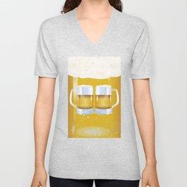 illustration of beer glass, Beer Unisex V-Neck