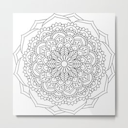Flower Mandala Design #3 Metal Print