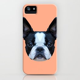 Frenchie / Boston Terrier // Peach / Apricot iPhone Case