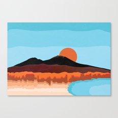 Landscape of Naples with volcano Vesuvio Canvas Print