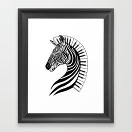Zebra Clef Framed Art Print