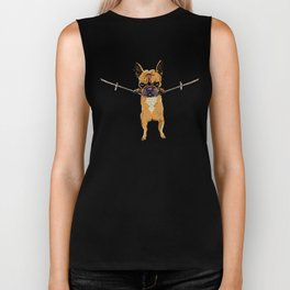 Hang in There Baby Frenchie Biker Tank