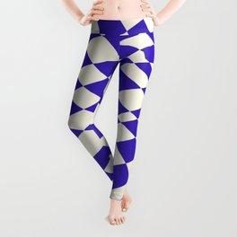 Checkers blue twist Leggings