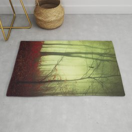 mysteriOns - surreal forest scene Rug