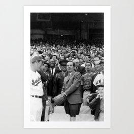 President Nixon Throwing Out First Pitch - Washington DC 1969 Art Print