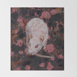 White Rat Throw Blanket