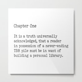 Chapter One - White Metal Print