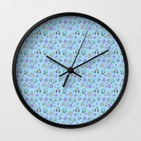 robots Wall Clocks featuring Robots by TheYUCK