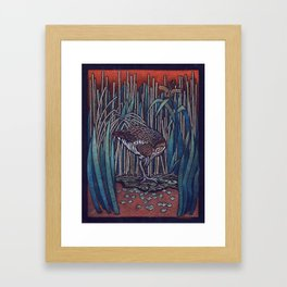 King Rail Framed Art Print