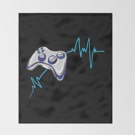 Gamer Heartbeat Throw Blanket