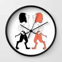 lions Wall Clocks featuring Lions by Gonacas