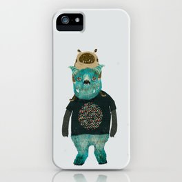 cookie and big blue iPhone Case