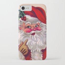 Cute vintage santa claus 2 iPhone Case