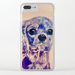 Cavalier King Charles Spaniel Puppy Clear iPhone Case