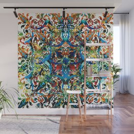 Bold Pattern Art - Color Fusion Design 8 By Sharon Cummings Wall Mural