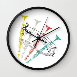Clarinet Music Instrument Wall Clock