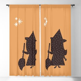 Cute Little Witch Blackout Curtain