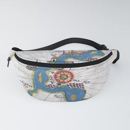 Piri Reis Map of the River Nile From its Estuary South Fanny Pack