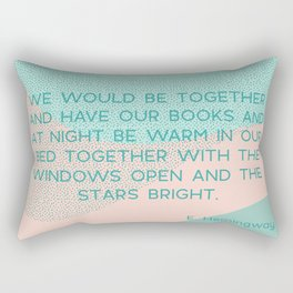 we would be together Rectangular Pillow