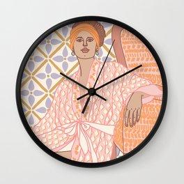 Pastel Babe Wall Clock