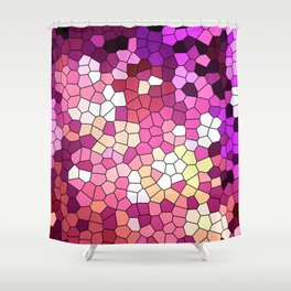Purple rhapsody stained glas Shower Curtain