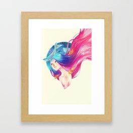 Goldfish Girl Framed Art Print