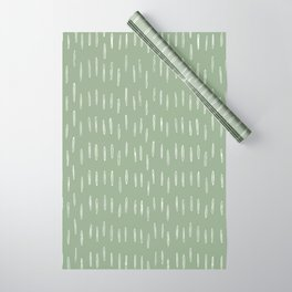 Raindrop Boho Abstract Pattern, Sage Green Wrapping Paper